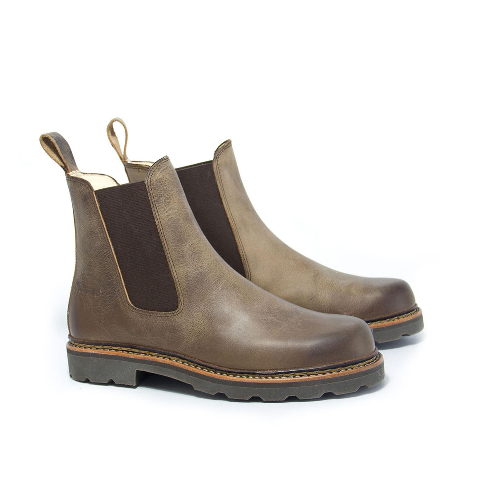 HOBO DAMEN SCHUHE Chelsea Boots Stiefel Gr. 39 Leder